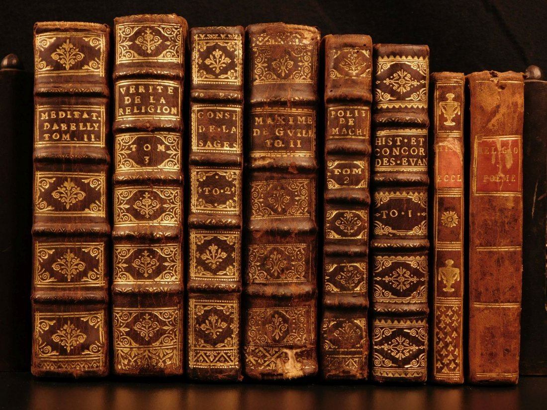 1675 8 Rare Book Lot Machiavelli Livy Jean Racine
