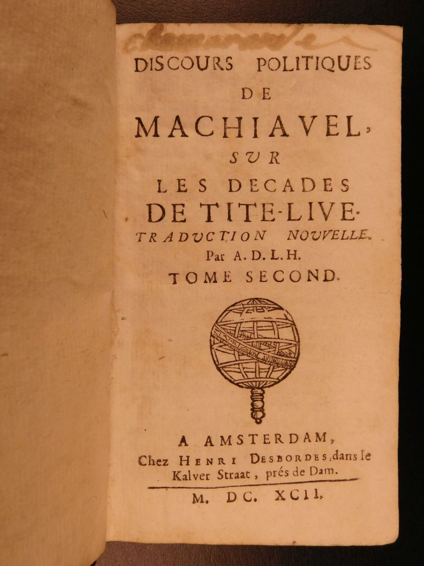 1675 8 Rare Book Lot Machiavelli Livy Jean Racine - 7