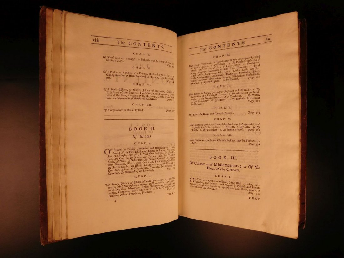 1734 Institute of Laws of England Parliament LAW Crimes - 8