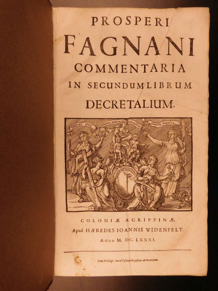 1681 HUGE FOLIO Prospero Fagnani LAW Pope Gregory IX - 3