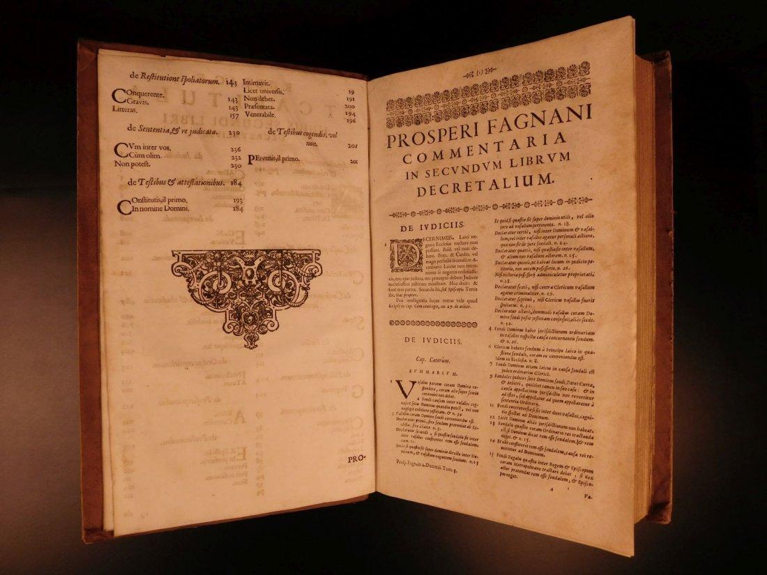 1681 HUGE FOLIO Prospero Fagnani LAW Pope Gregory IX - 5