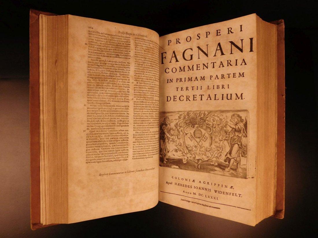 1681 HUGE FOLIO Prospero Fagnani LAW Pope Gregory IX - 6