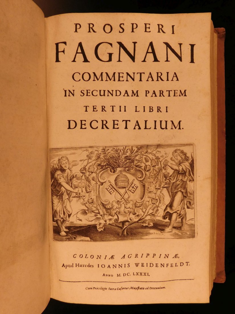 1681 HUGE FOLIO Prospero Fagnani LAW Pope Gregory IX - 8