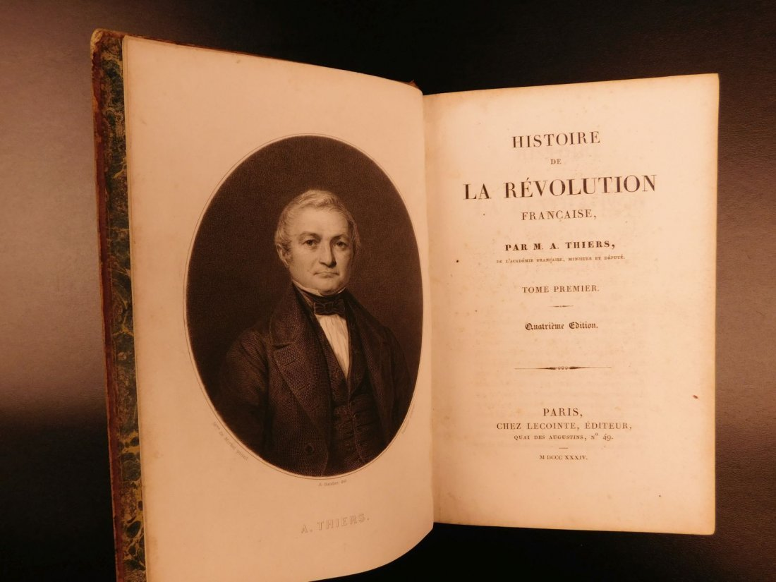 1834 Thiers History of French Revolution France Battle - 3