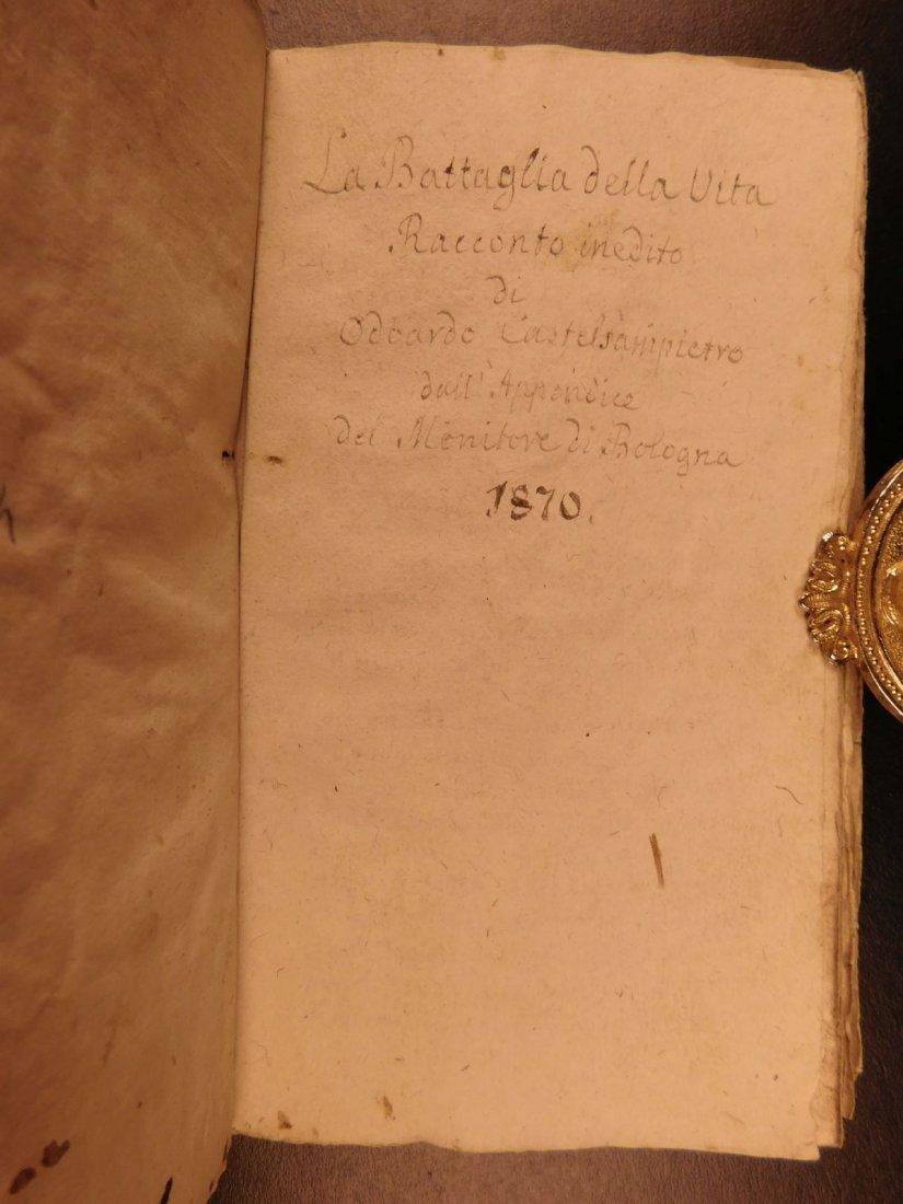 1860 Handwritten Manuscripts Italian Books History - 10