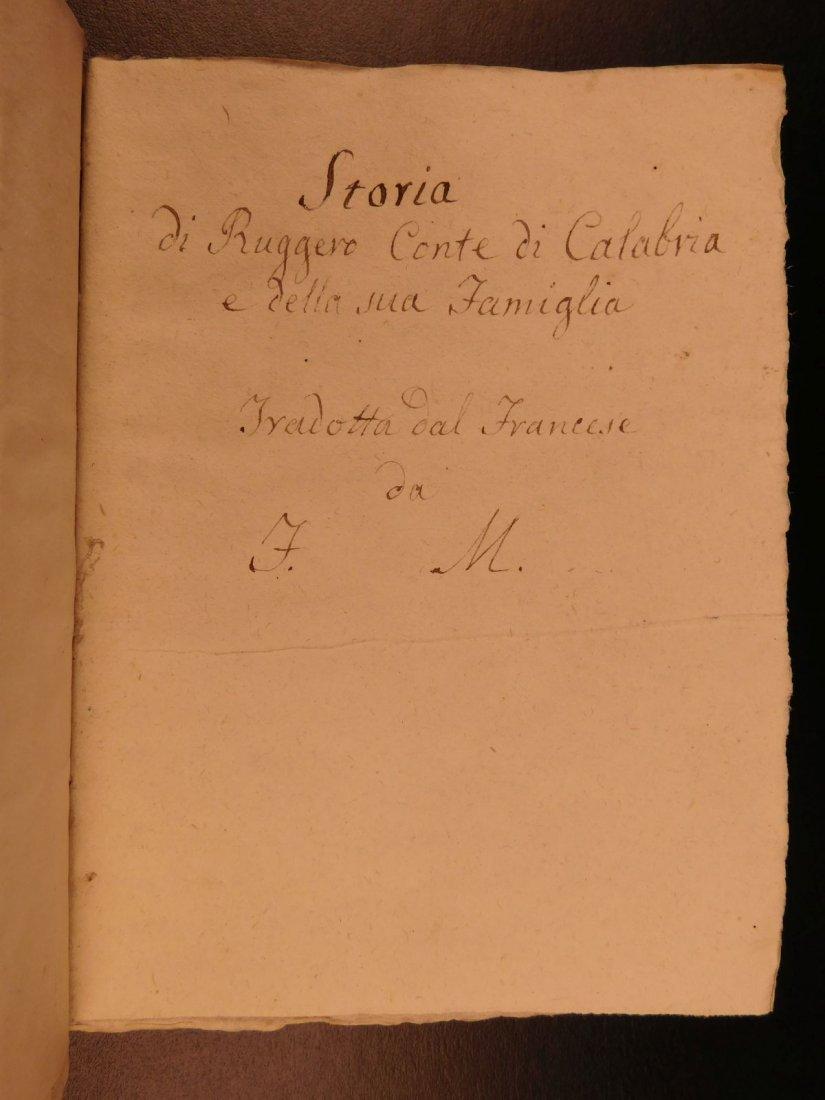 1860 Handwritten Manuscripts Italian Books History - 2