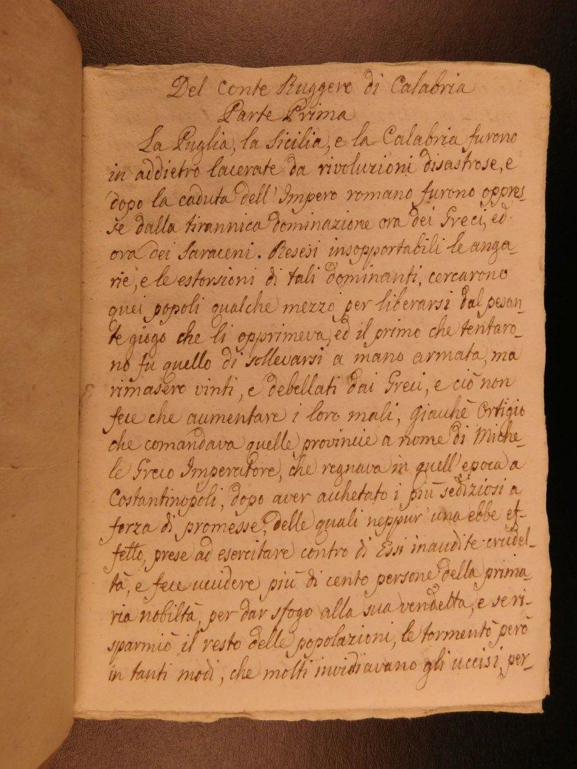 1860 Handwritten Manuscripts Italian Books History - 3
