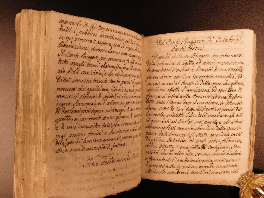 1860 Handwritten Manuscripts Italian Books History - 4