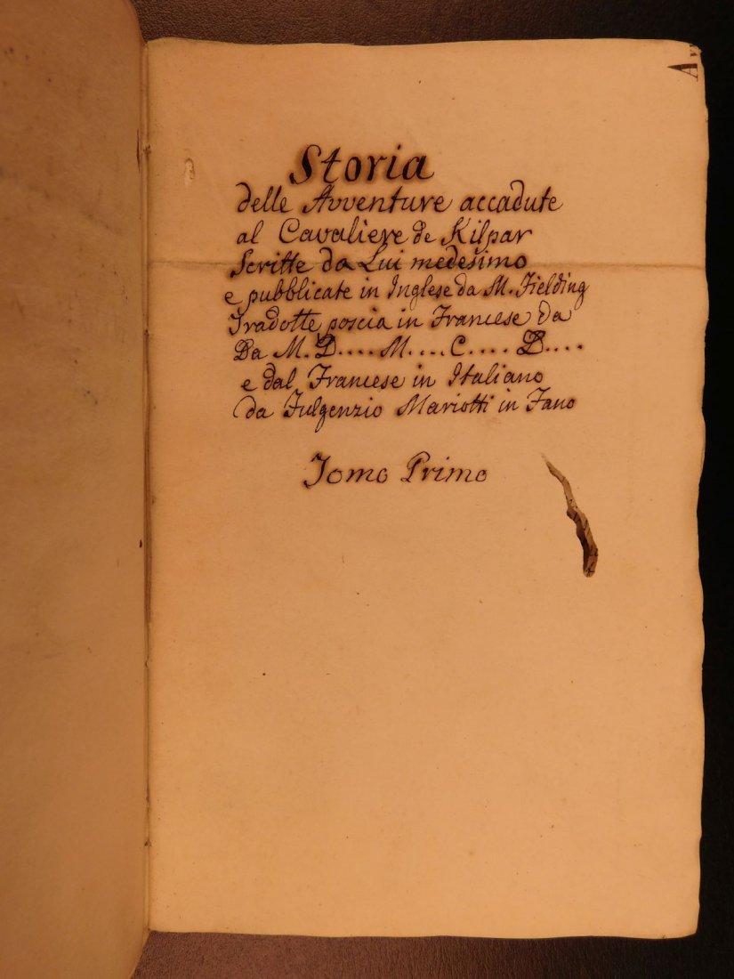 1860 Handwritten Manuscripts Italian Books History - 5