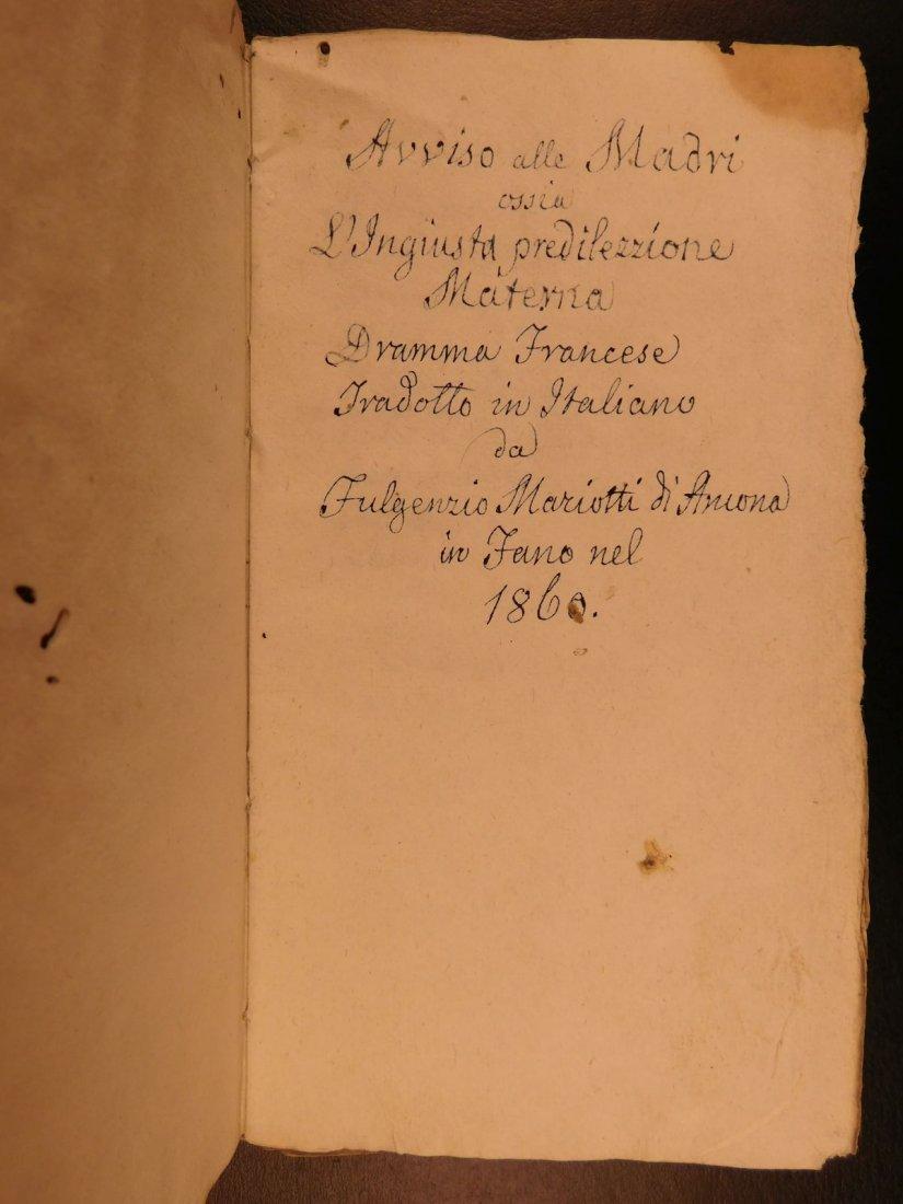 1860 Handwritten Manuscripts Italian Books History - 6