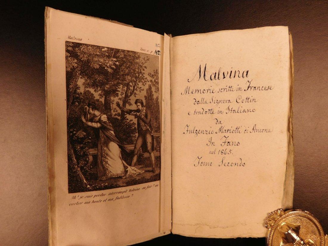 1860 Handwritten Manuscripts Italian Books History - 8