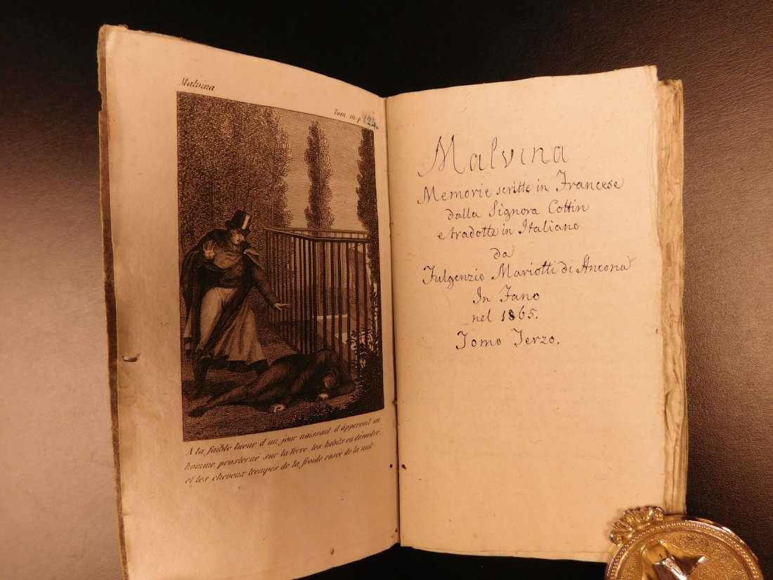 1860 Handwritten Manuscripts Italian Books History - 9