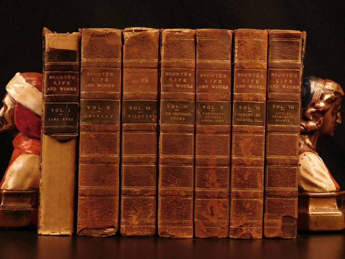 1887 BRONTE Novels Jane Eyre Wuthering Heights Shirley