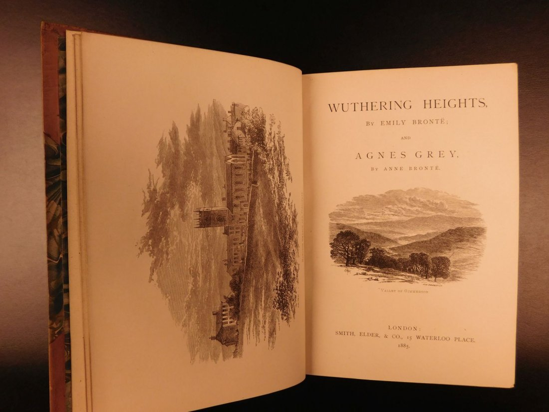 1887 BRONTE Novels Jane Eyre Wuthering Heights Shirley - 8