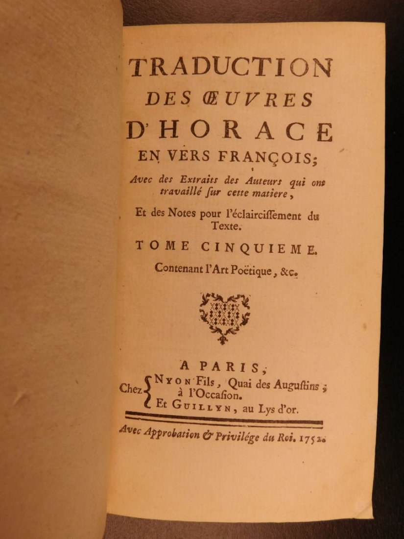 1752 Works of Horace ROMAN Literature Poetry Odes Rome - 10