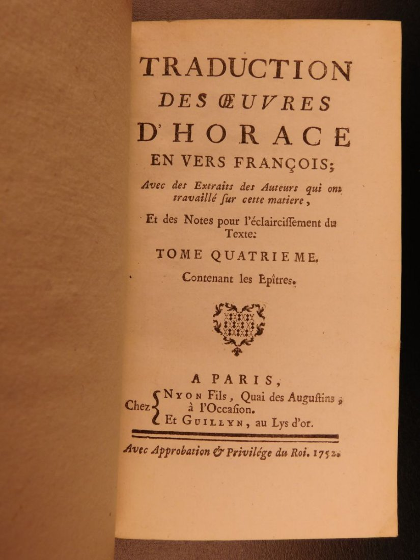 1752 Works of Horace ROMAN Literature Poetry Odes Rome - 9