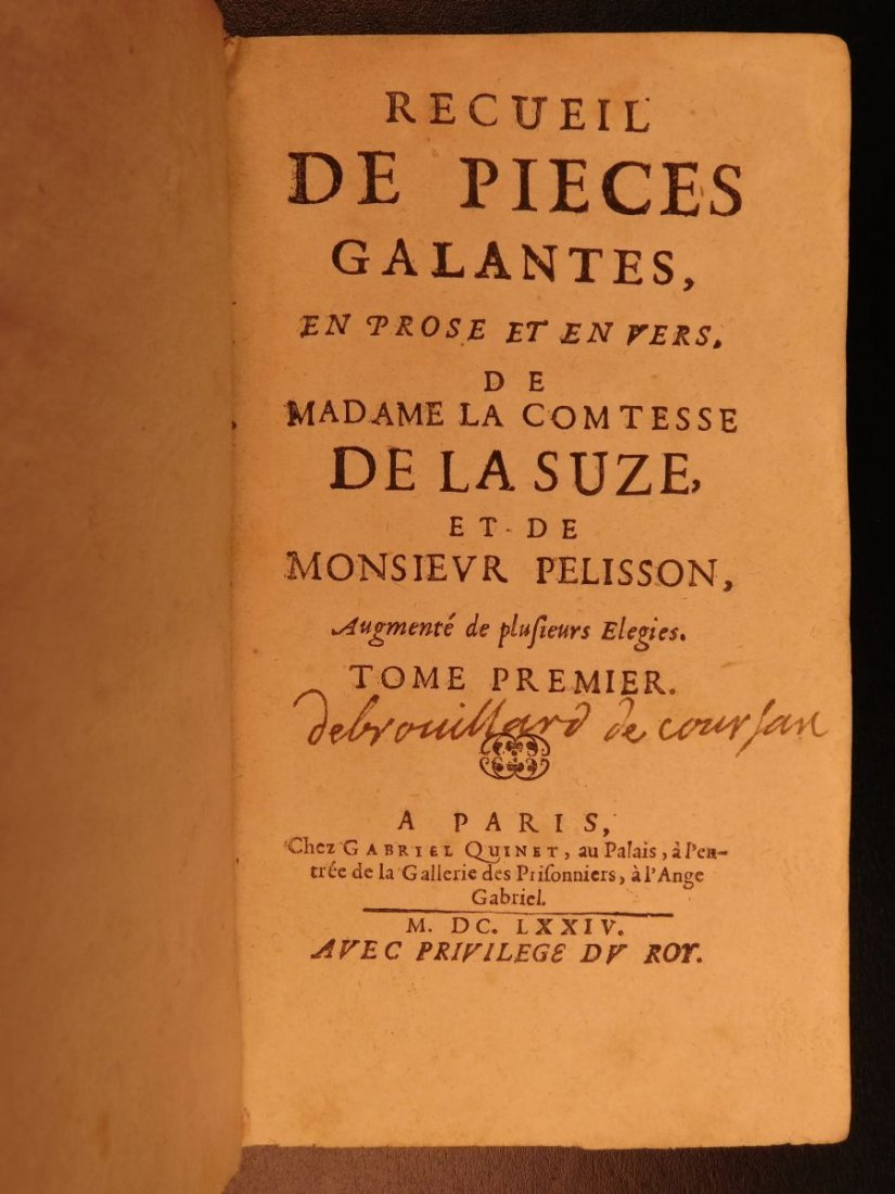 1674 Music Opera & French Poetry Henriette la Suze - 3