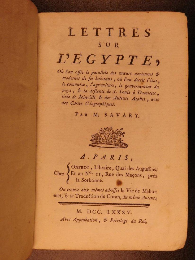 1785 1ed Savary Letters on EGYPT Pagan Mythology - 3