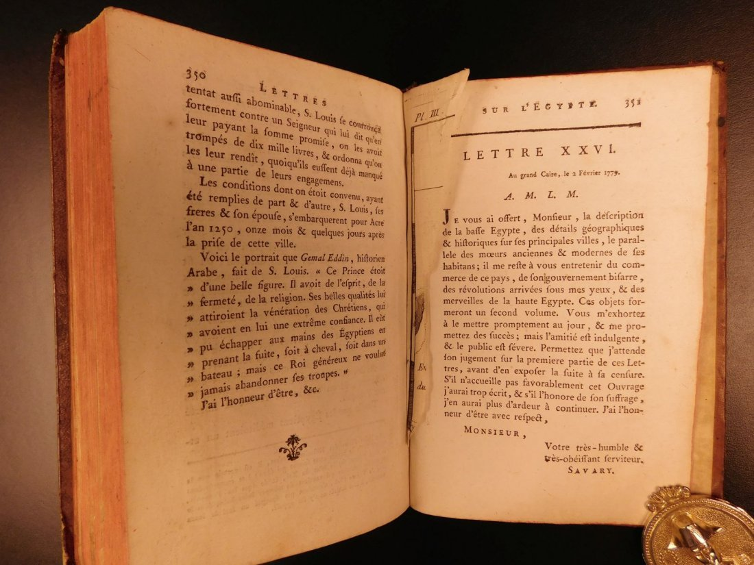 1785 1ed Savary Letters on EGYPT Pagan Mythology - 8