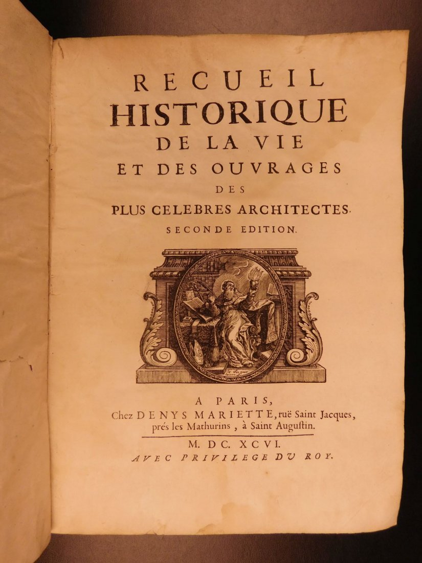 1696 History of Architecture Felibien Famous Architects - 3