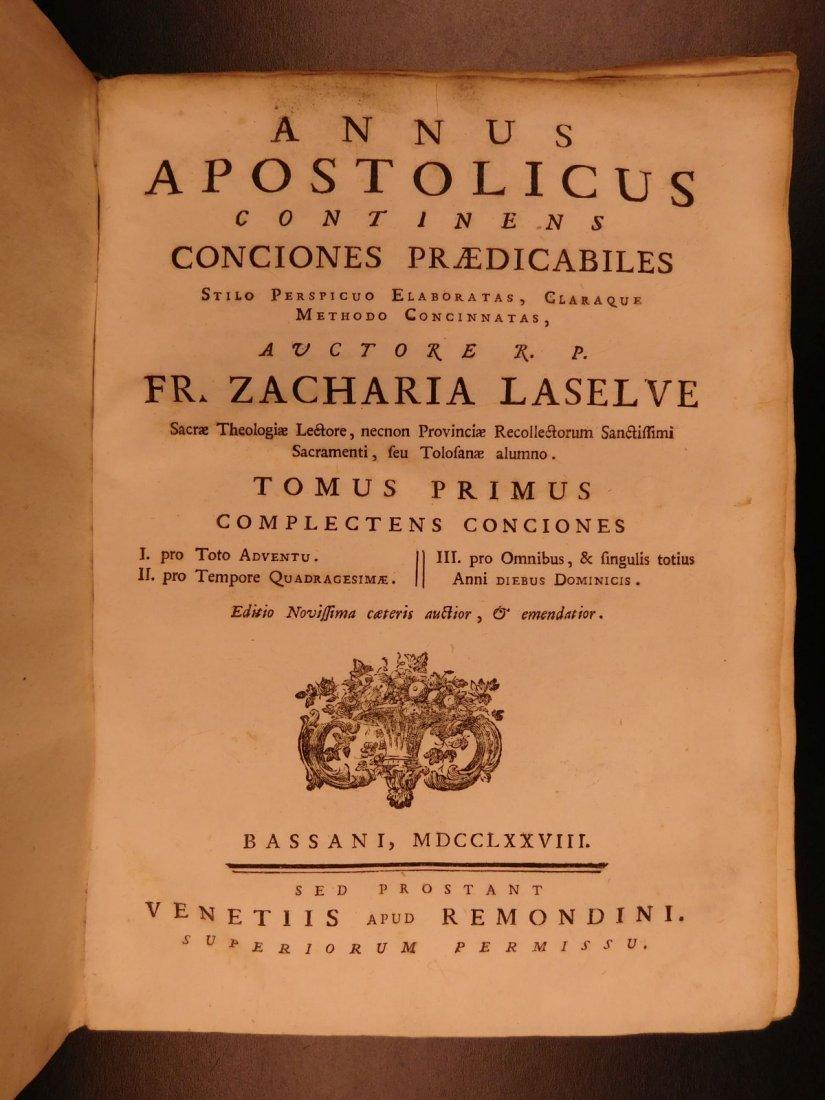 1759 Zacharie Laselve Sermons Annus Apostolicus Advent - 3