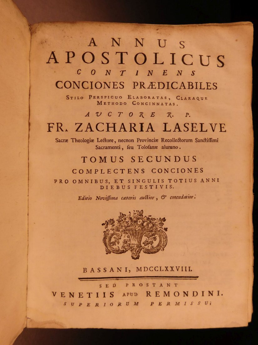 1759 Zacharie Laselve Sermons Annus Apostolicus Advent - 7