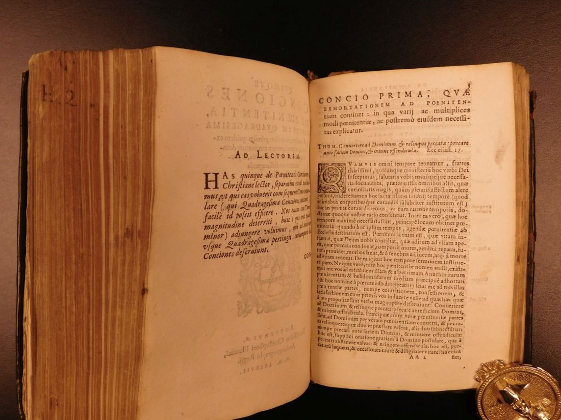 1587 Louis of Granada Dominican Bible Spain PLANTIN - 9