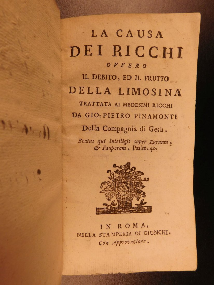 1801 Pinamonti The Cause of the Rich Economic Jesuit - 3