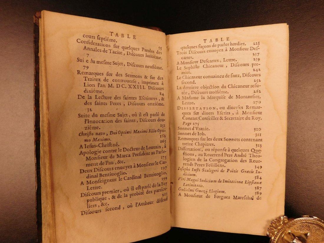 1661 Guez de Balzac Christian Socrates Essays & Letters - 5