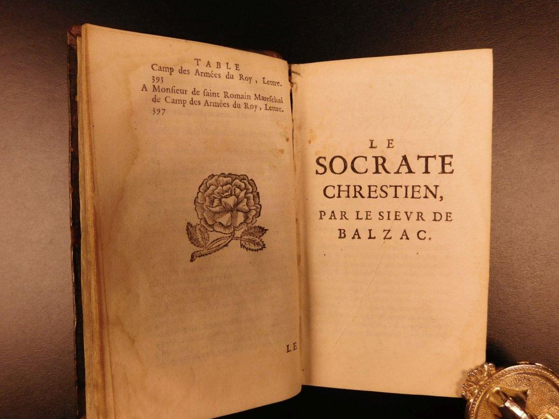 1661 Guez de Balzac Christian Socrates Essays & Letters - 6