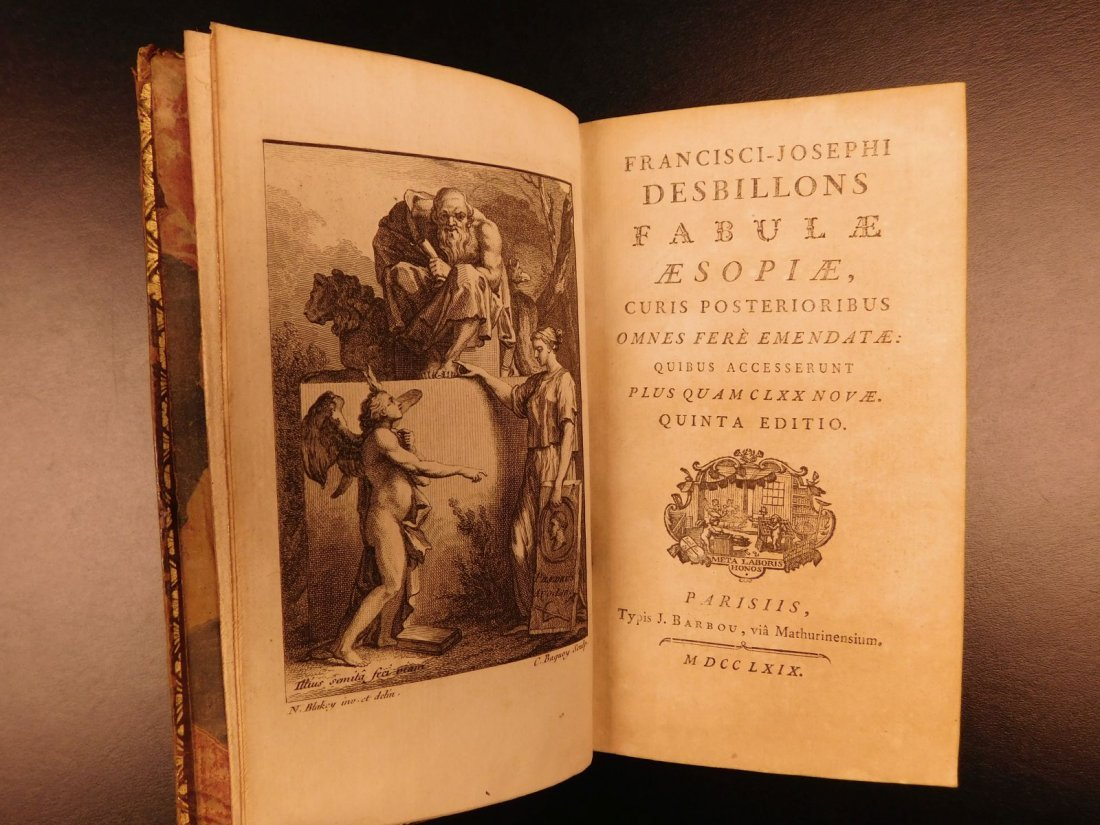 1769 Latin Aesop Fables Mythology Classic Greek - 3