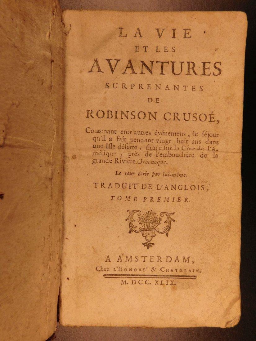 1749 Robinson Crusoe Daniel Defoe Voyages - 3