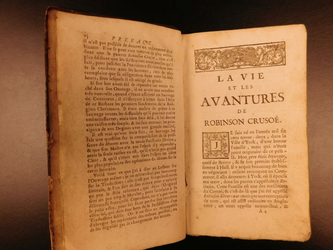 1749 Robinson Crusoe Daniel Defoe Voyages - 5