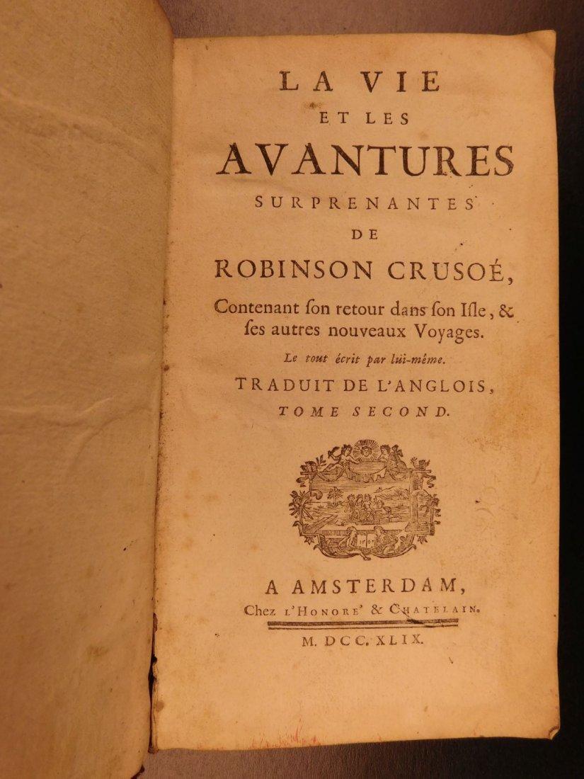 1749 Robinson Crusoe Daniel Defoe Voyages - 8