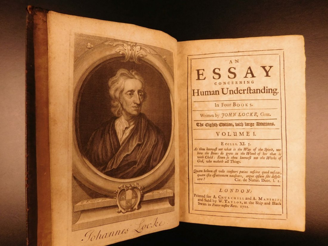 1721 John Locke Essay Concerning Human Understanding - 3