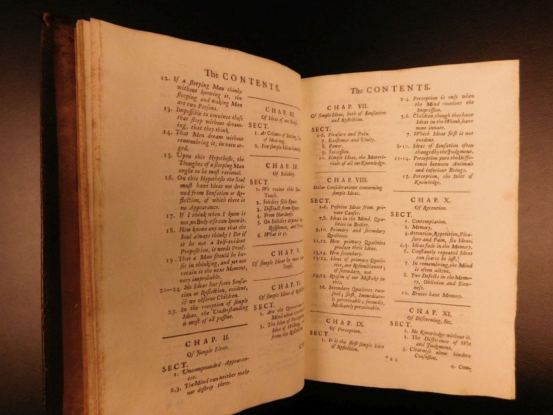 1721 John Locke Essay Concerning Human Understanding - 8