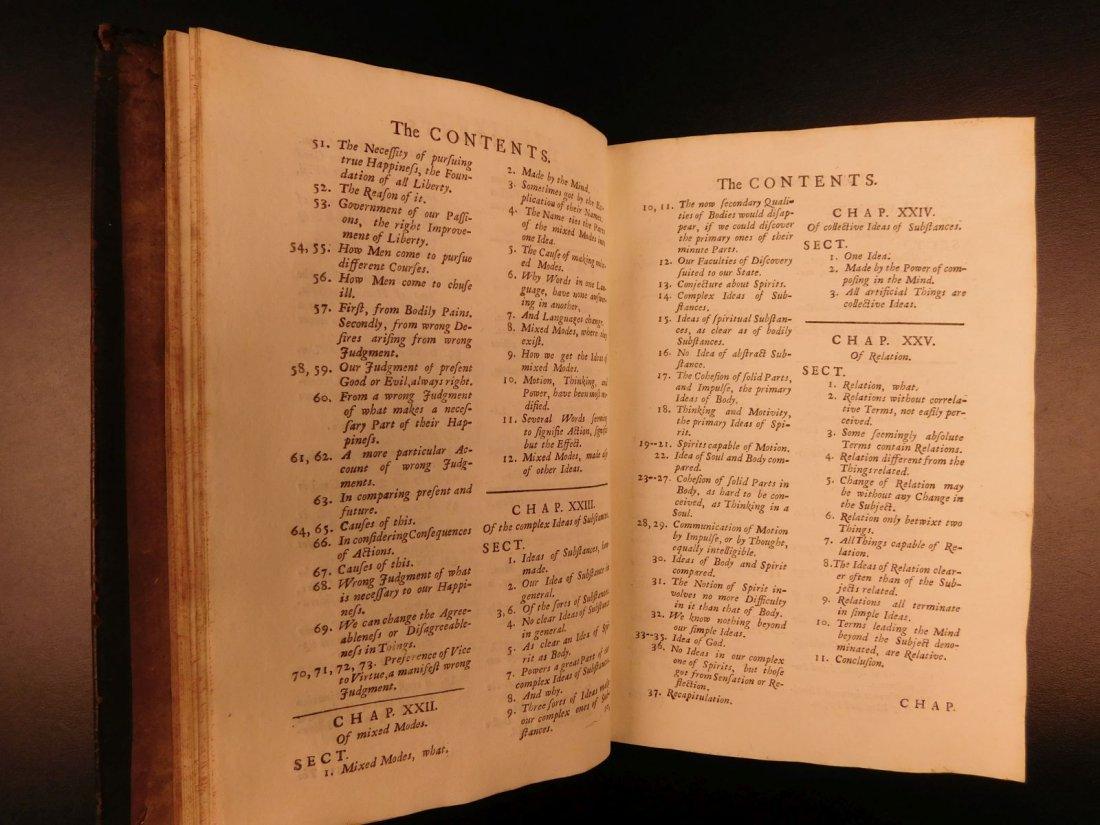 1721 John Locke Essay Concerning Human Understanding - 9