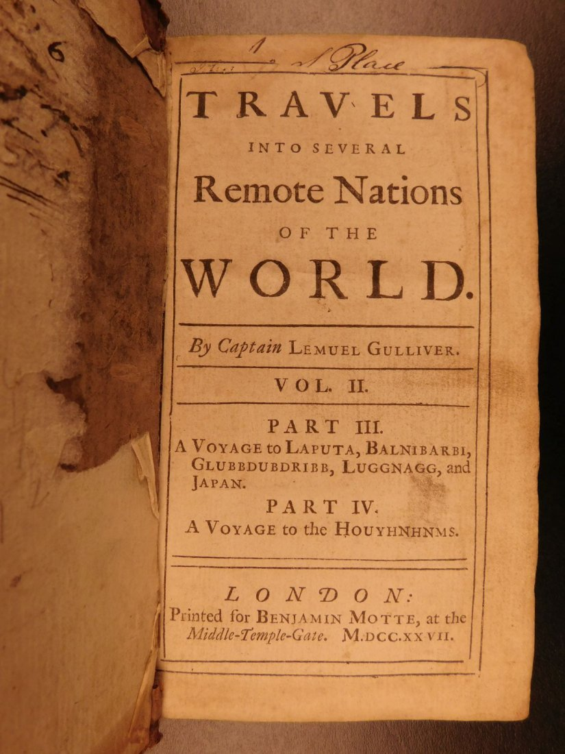1727 1st ed Gulliver's Travels Jonathan Swift English - 2