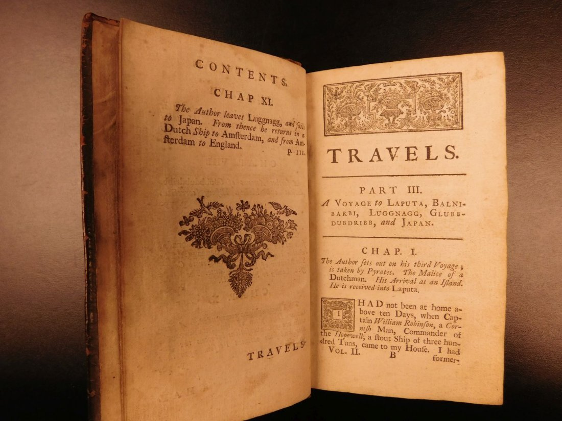 1727 1st ed Gulliver's Travels Jonathan Swift English - 5