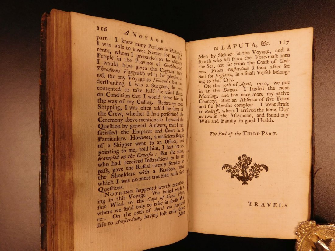 1727 1st ed Gulliver's Travels Jonathan Swift English - 6