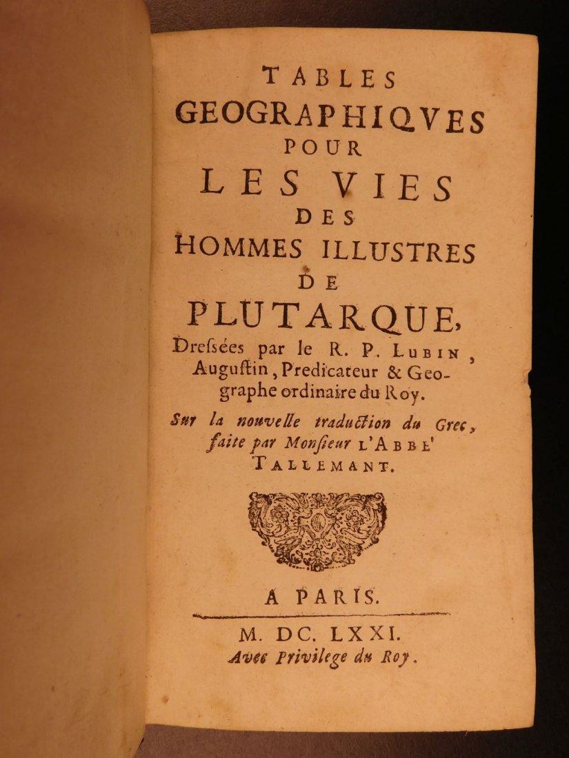 1671 Concordance to Plutarch Lives Rome Julius Caesar - 2
