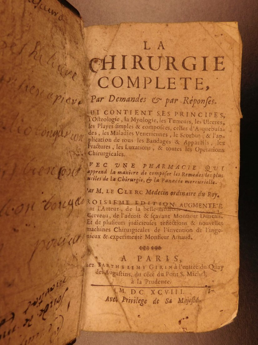 1698 Complete Surgery Le Clerc French Chirurgie - 2
