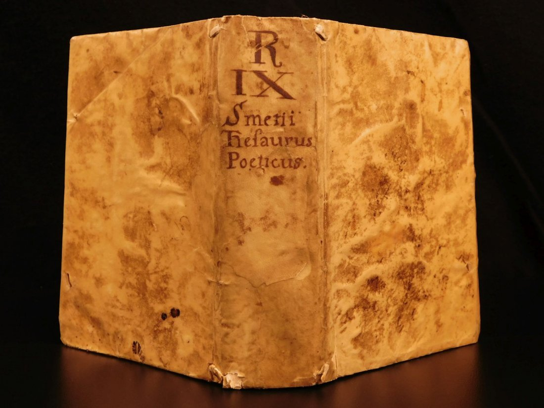 1627 Thesaurus Poeticus Smet Prosody Dictionary