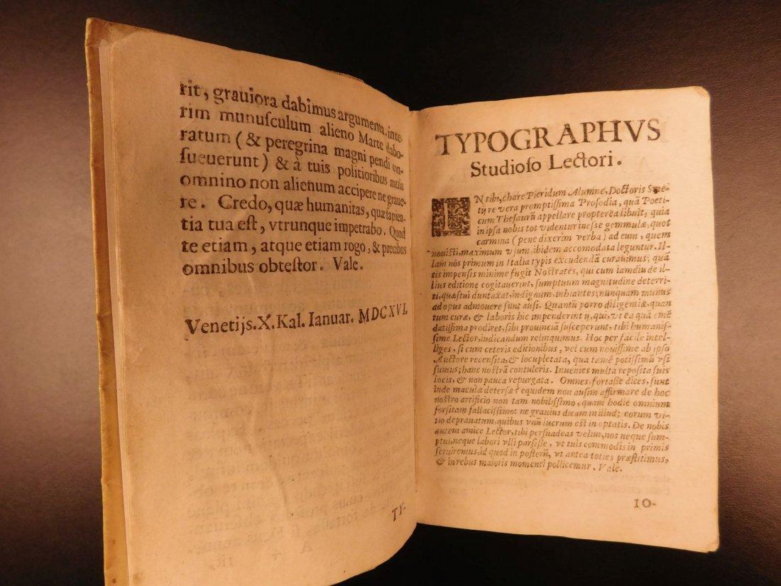 1627 Thesaurus Poeticus Smet Prosody Dictionary - 4