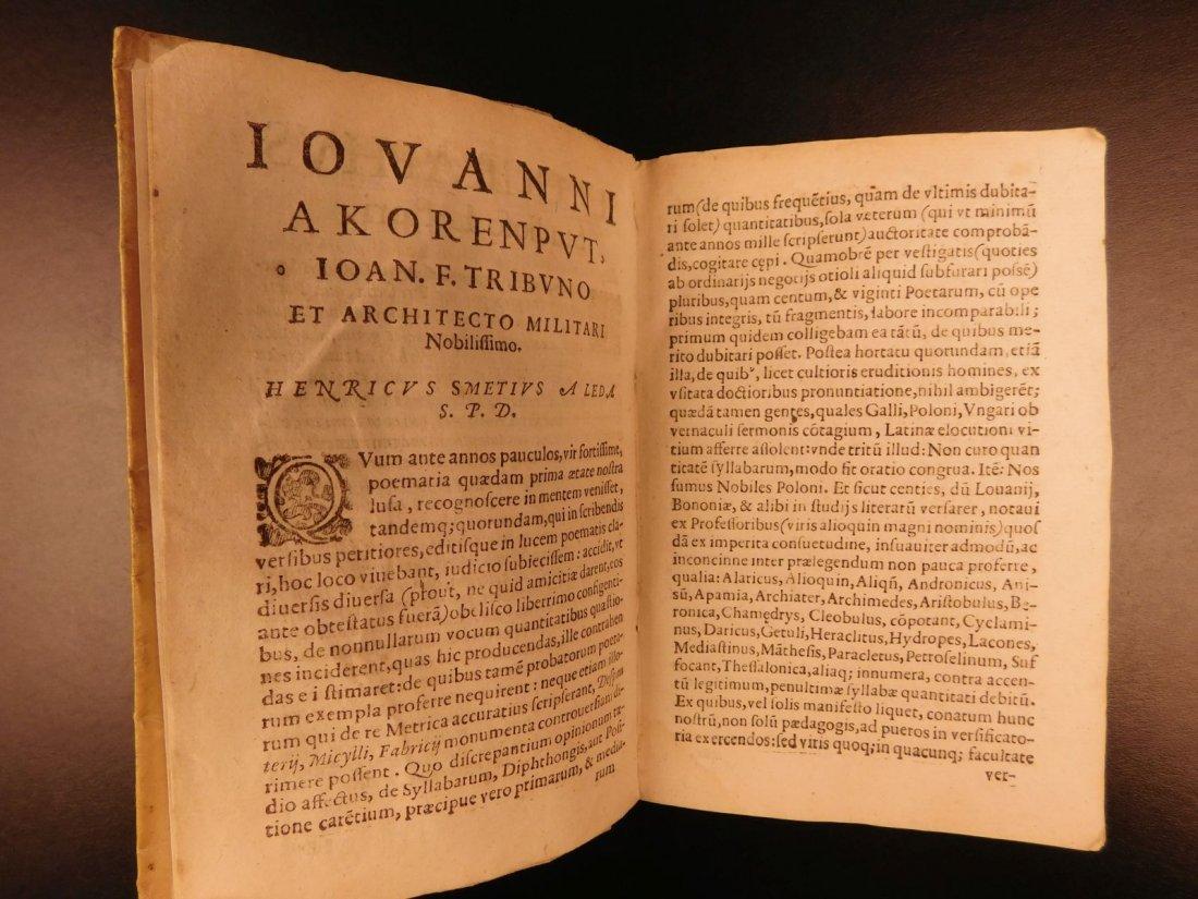 1627 Thesaurus Poeticus Smet Prosody Dictionary - 5