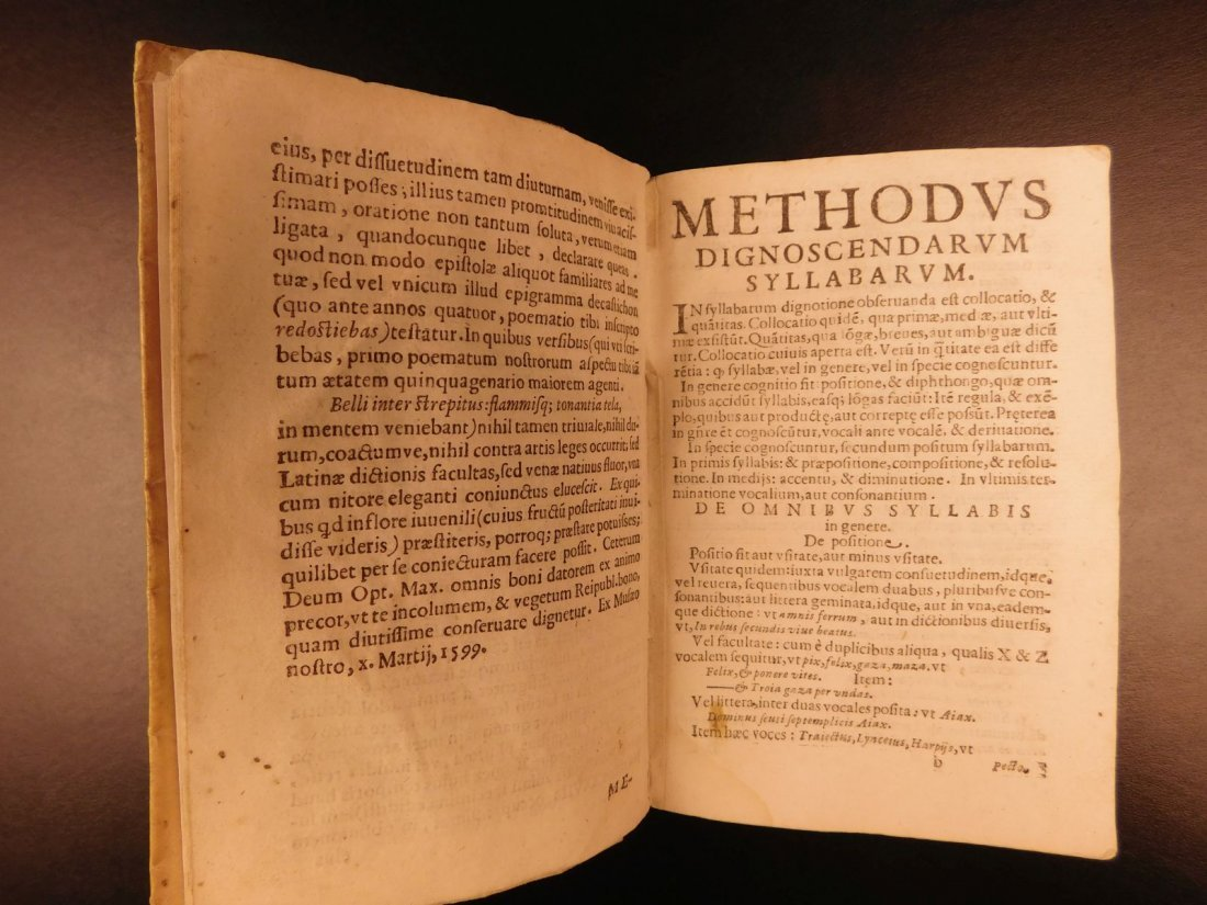 1627 Thesaurus Poeticus Smet Prosody Dictionary - 6