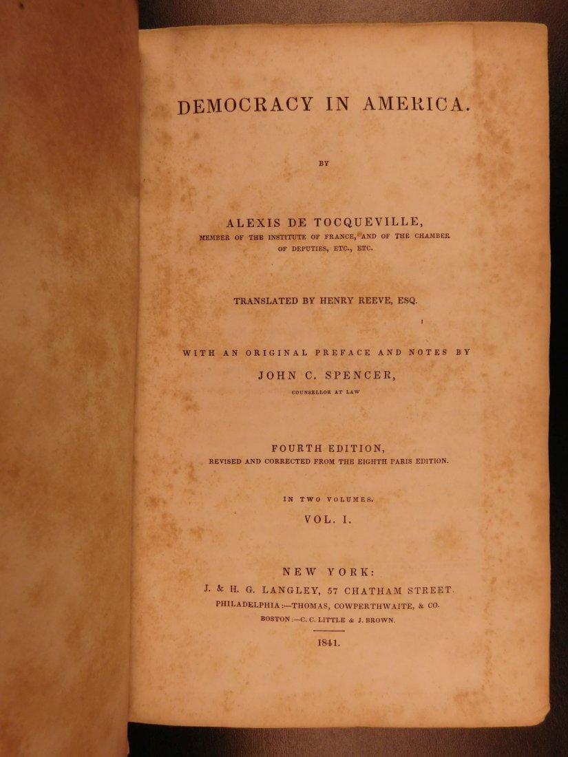 1841 Democracy in America Alexis de Tocqueville - 2