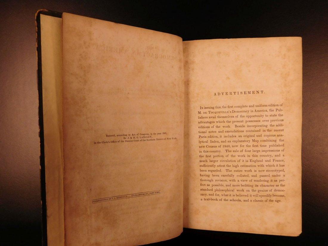 1841 Democracy in America Alexis de Tocqueville - 3