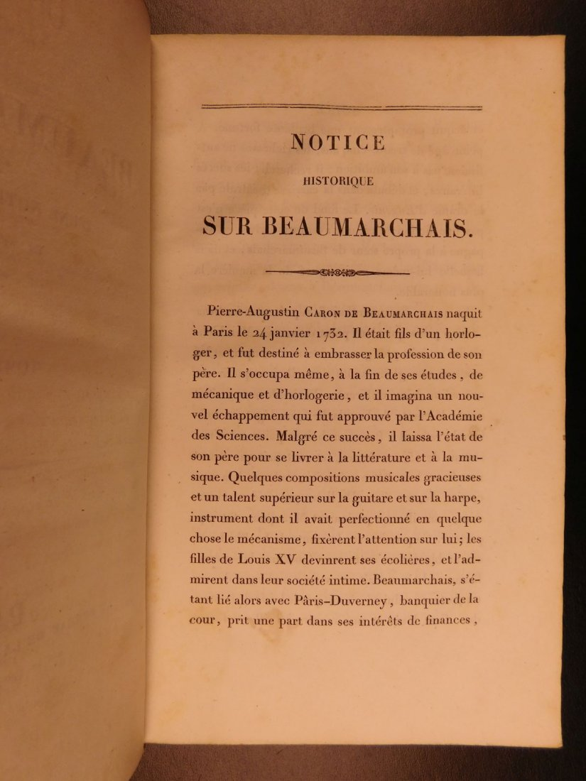 1829 Complete Works of Beaumarchais French Theatre - 4