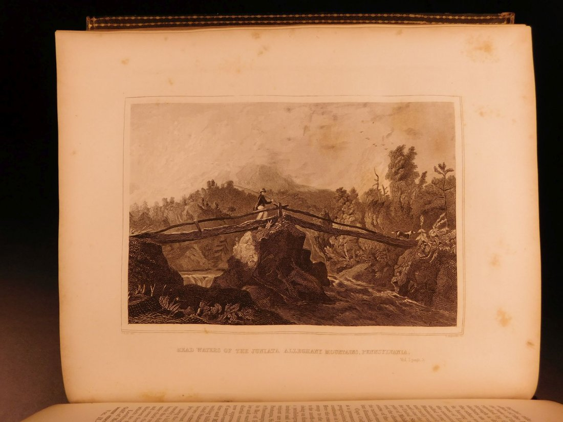 1846 US History & Topography Illustrated Maps Canals US - 7